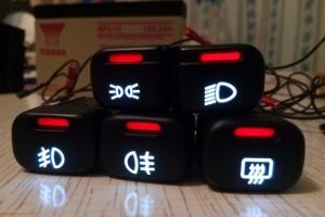 Как сделать пересвет кнопок ВАЗ 2114 своими руками