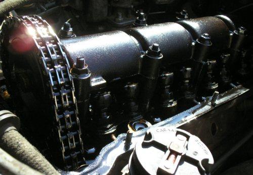 Демонтаж крышки клапанов и фильтра