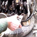 Снятие маслонасоса с автомобиля