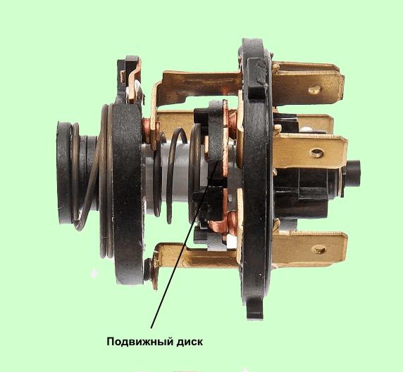 Контактный механизм замка зажигания ВАЗ 2107