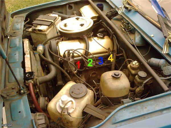Нумерация цилиндров двигателя ВАЗ 2106