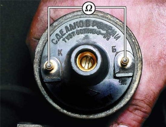 Проверка катушки на обрыв обмоток