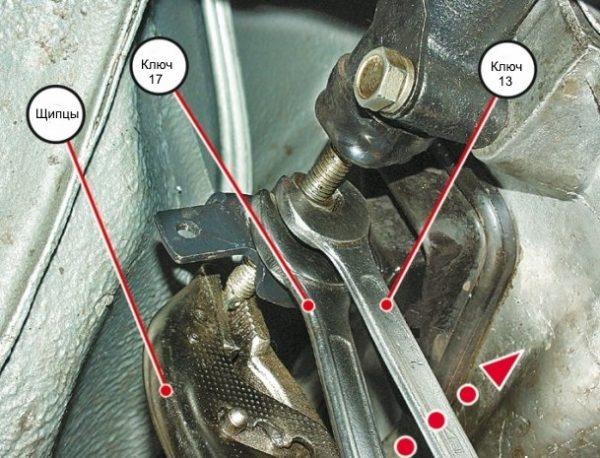 Регулировка длины штока рабочего цилиндра сцепления