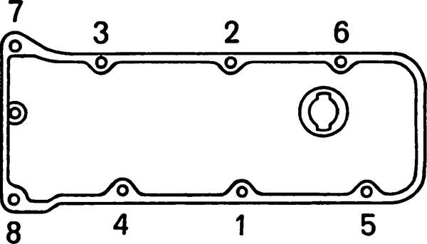 Последовательность затягивания гаек на клапанной крышке