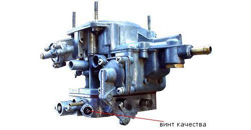 Винт качества карбюратора ВАЗ 2106