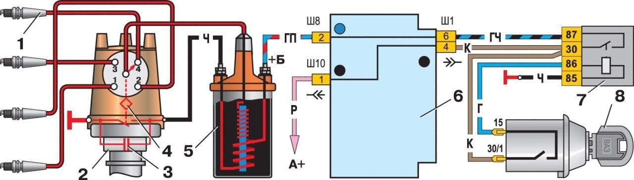 подключение тахометра к катушке зажигания газ