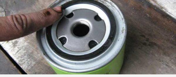 Смазывание кольца на масляном фильтре