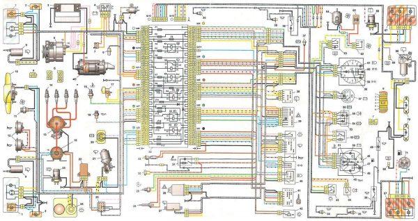 Схема электрооборудования карбюраторных ВАЗ 2104