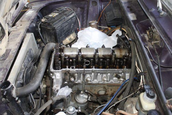 Двигатель без верхней крышки