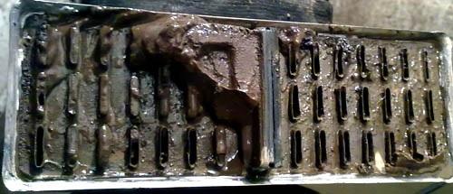 Грязь на сотах радиатора печки ВАЗ 2101