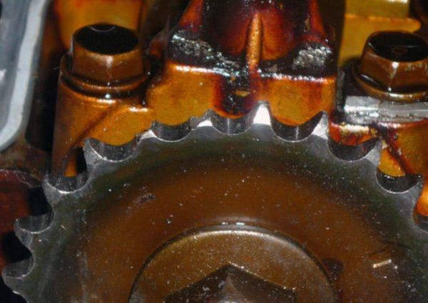 Износ зубцов на звёздочке ГРМ