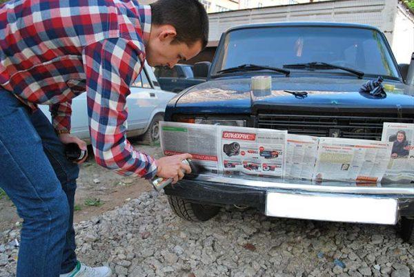 Как покрасить передний бампер ВАЗ 2107