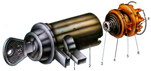 Конструкция замка зажигания ВАЗ 2101
