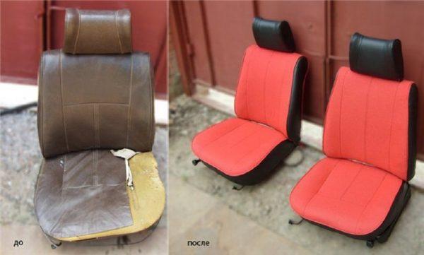 Перетяжка сидений ВАЗ 2105