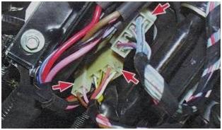 Проводка подключения подрулевого переключателя
