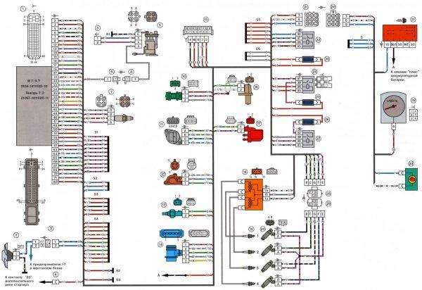 Электрическая схема ВАЗ 2106 (инжектор)