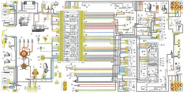 Схема электрооборудования ВАЗ 21043 и 21041i