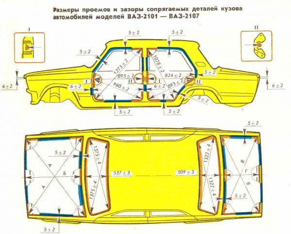 Схема кузовов Лада