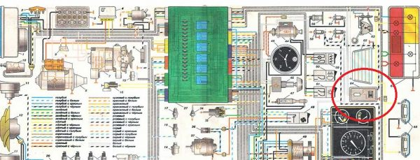 Схема подключения плафона освещения салона