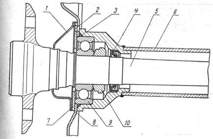 Схема полуоси ВАЗ 2107