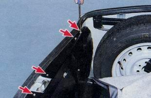 Снятие обивки багажника