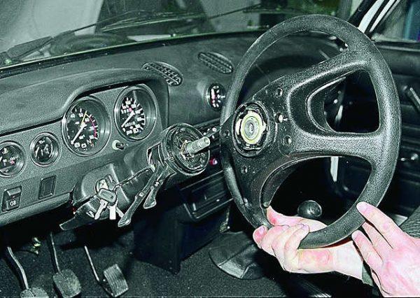 Снятое рулевое колесо