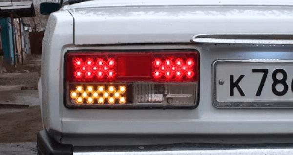 Тюнинг задних фонарей ВАЗ 2107