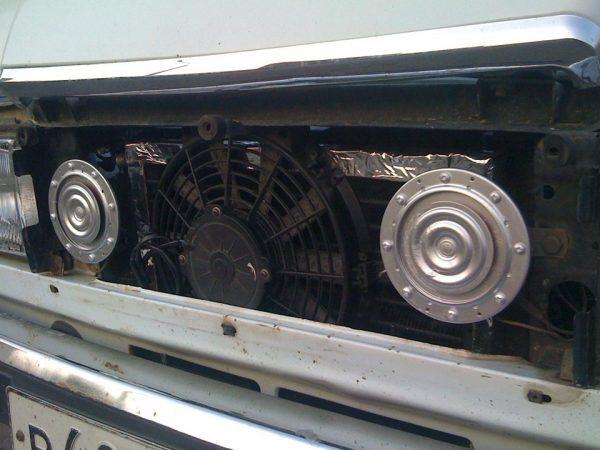 Установка вентилятора конденсатора