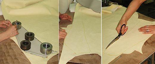 Выкройка детали обшивки сиденья
