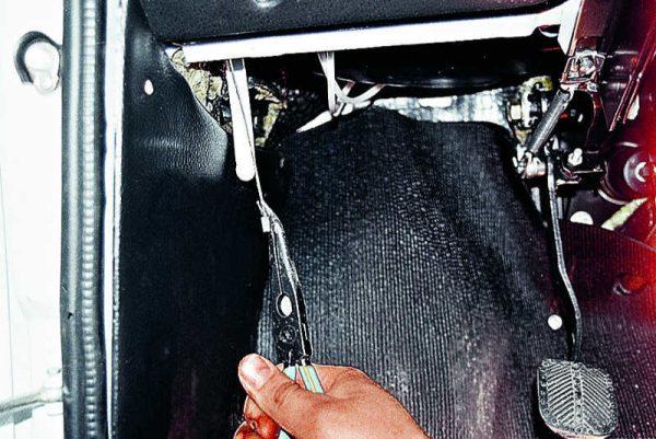 Вытягивание тросика