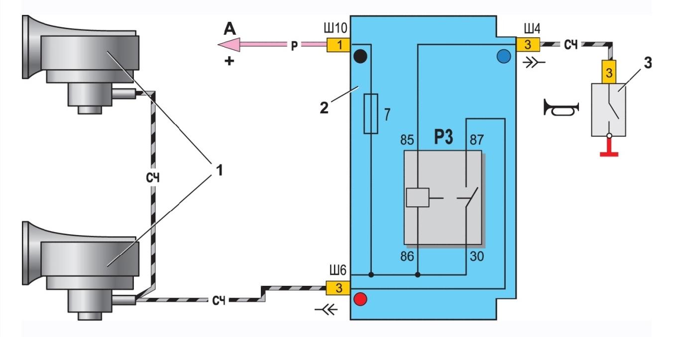 Схема подключения звукового сигнала фото 673