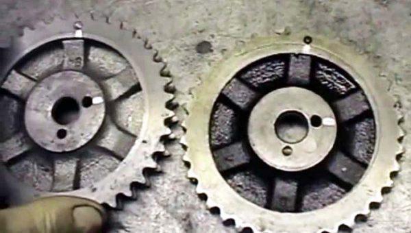 Критический износ шестерён привода ГРМ ВАЗ 2106