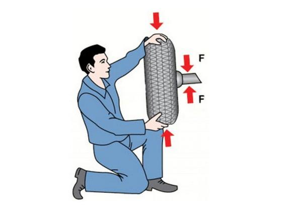Проверка опоры на люфт