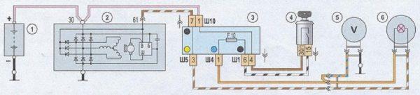 Схема подключения генератора Г-221А