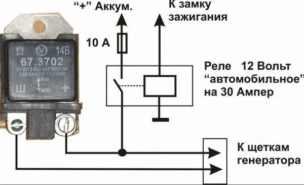 Схема подключения реле-регулятора