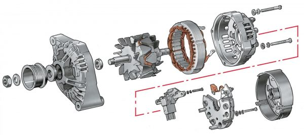 Схема разборки генератора ВАЗ 2101
