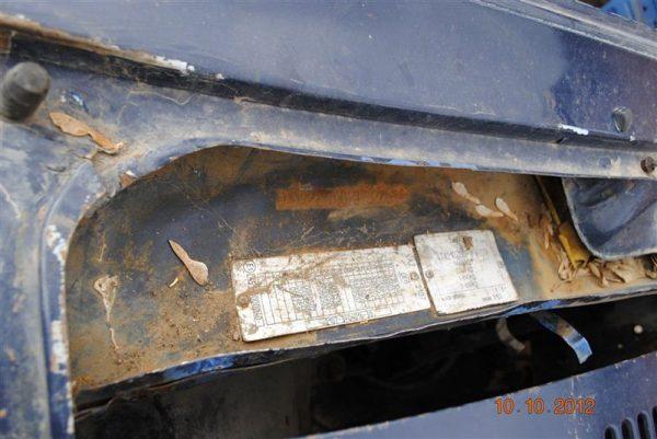 Табличка с номером кузова ВАЗ 2107