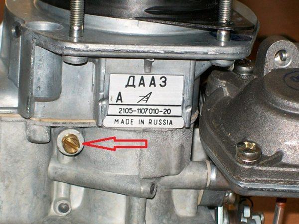 Топливный жиклёр переходной системы ДААЗ 2107