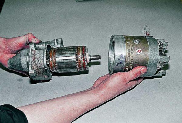 Отсоединение ротора стартера ВАЗ 2107