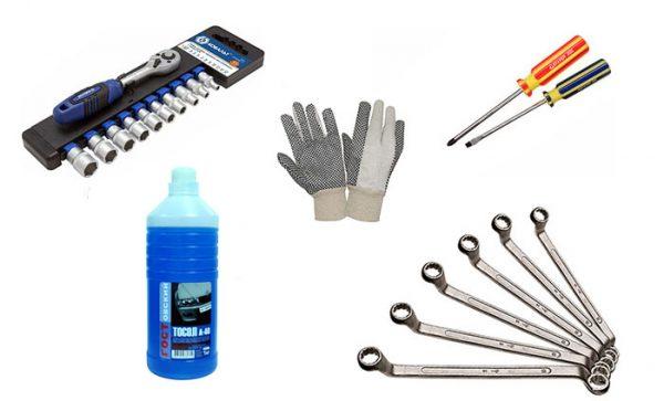 Инструменты для замены помпы на «шестёрке»