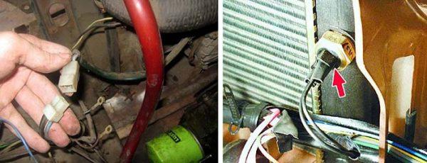 Как отключить термовыключатель и вентилятор ВАЗ 2106