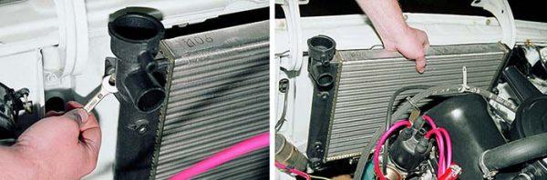 Как открутить радиатор на «шестёрке»