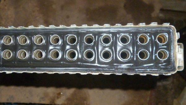 Радиатор со снятым баком