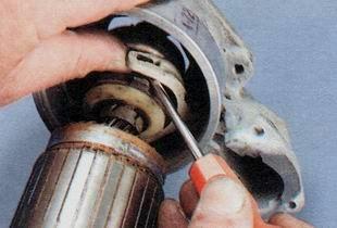 Отсоединение ротора стартера ВАЗ 2106