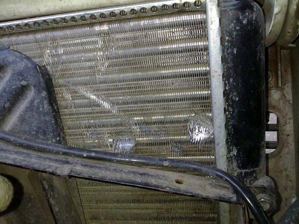 Повреждения радиатора ВАЗ 2101—2107