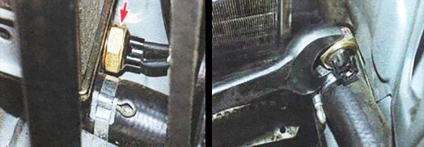 Замена термодатчика включения вентилятора ВАЗ 2106