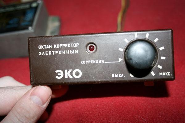 Панель управления октан-корректора