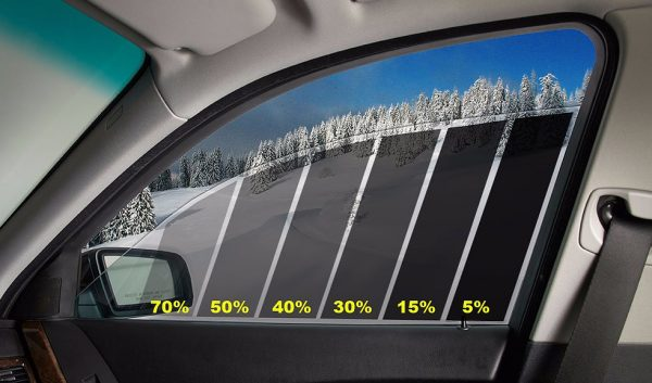 Автомобильное стекло со шкалой светопропускаемости