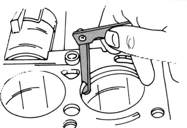 Щуп для измерения зазора маслосъёмных колец