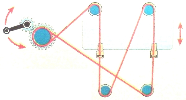 Схема тросового стеклоподъёмника ВАЗ 2107
